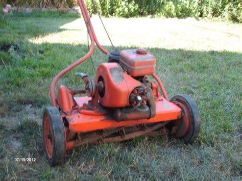 jacobsen reel mower lawn queen   antique