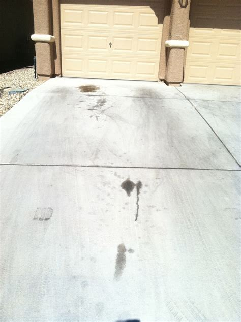 stains before and after how to remove from concrete