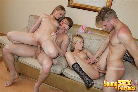 Young Sex Parties Teen Foursome Pounding Photo Album By
