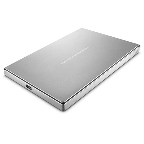 The lacie porsche design mobile 4tb version has dimensions of 128 mm x 84 mm x 21 mm and weighs 315 grams. LaCie Porsche Design 1TB USB-C + USB 3.0 Portable External Hard Drive | Ebuyer.com