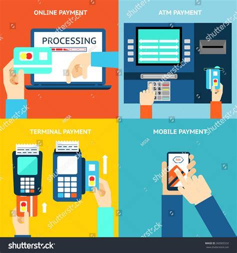 payment methods business buy flat design stock