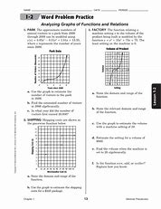 Glencoe algebra 1 chapter 5 worksheet answers