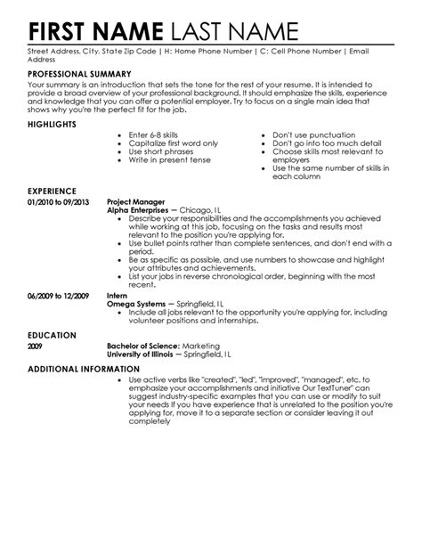 Make A Professional Resume For Free by Entry Level 3 Resume Format Sle Resume Format