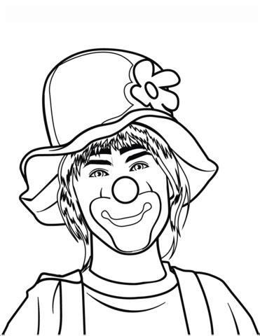 clown coloring page  printable coloring pages