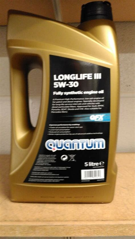 5 w 30 longlife quantum longlife 3 5w 30 fully synthetic engine 5 litre bottle ebay