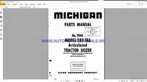 Michigan 280 Iiia Tractor Shovel Parts Manual
