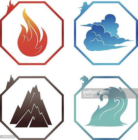 Illustrations Et Dessins Animés De Les Quatre éléments