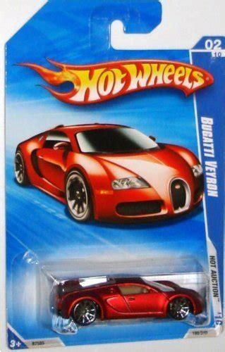 hot wheels   red bugatti veyron hot auction