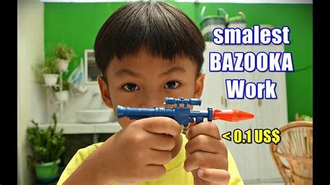 Free delivery and returns on ebay plus items for plus members. SMALLEST BOZOOKA like NERF GUN under 0.1 US$ Working - YouTube