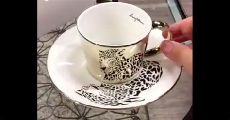 video  cup  saucer sets  korea    optical illusions
