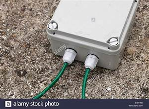 Weatherproof Ip67 Terminal Box With Cable Glands And Green