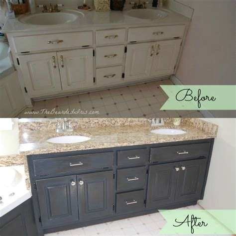 painted bathroom cabinets before and after before and after of bathroom vanity makeover by the