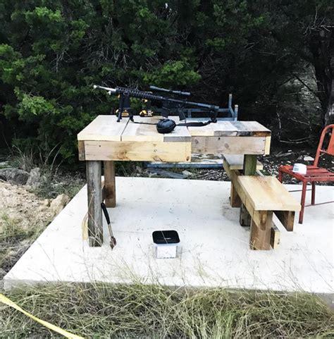 diy large shooting bench myoutdoorplans