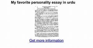 essay on my favourite personality for class 9