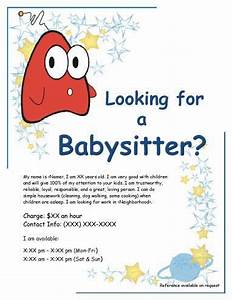 Babysitter Flyer Maker Babysitter Flyer Google Search Babysitting Flyers