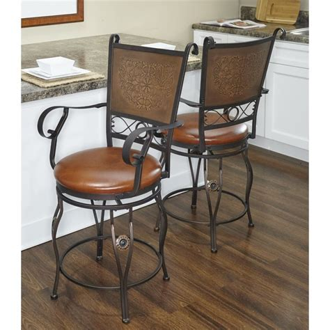 "Powell Furniture Big and Tall 24"" Swivel Counter Stool in"