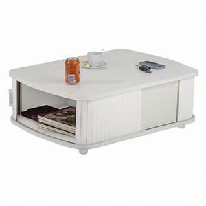 Tv 80 Cm Blanche : table basse rectangle 80 cm blanche simmob ~ Teatrodelosmanantiales.com Idées de Décoration