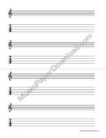 Blank Music Staff Paper Template