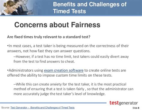 benefits and challenges of timed tests