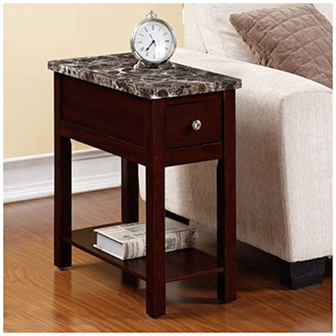 big lots furniture end tables espresso finish faux marble chairside table big lots