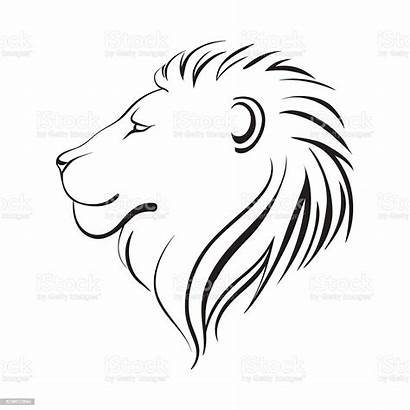 Lion Outline Head Profile Lions Vector Animal