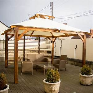 Tonnelle En Bambou : tonnelle autoportante bois ventelles 3 54 x 3 54 spacio ~ Premium-room.com Idées de Décoration