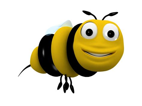 Bee Cartoon Character 3d Model Animated Rigged Max Obj 3ds