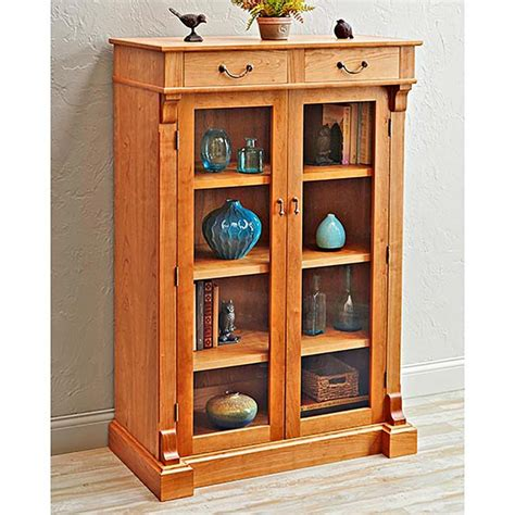 display bookcase woodworking plan  wood magazine