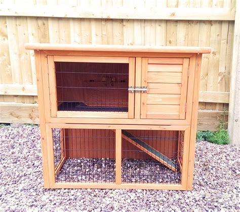 rabbit guinea pig hutch 3ft medium rabbit hutch guinea pig run pet hutches cage 17
