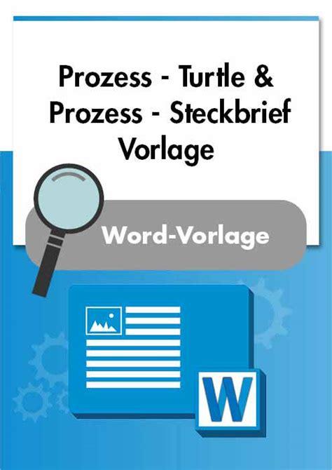 prozess turtle und prozess steckbrief checkliste muster