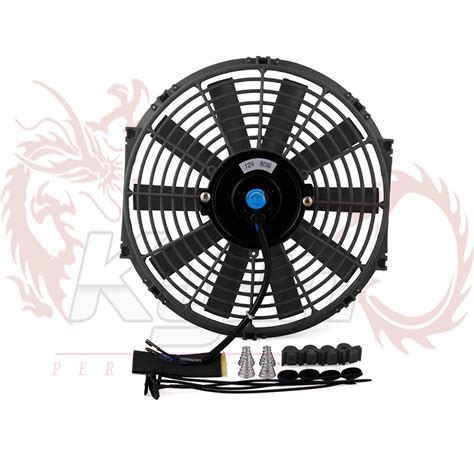 electric radiator fans for cars aliexpress com buy 12inch universal 12v 80w slim