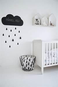 Chambre Enfant Blanc : une chambre d 39 enfant en noir et blanc ~ Teatrodelosmanantiales.com Idées de Décoration