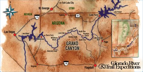 Grand Canyon West Rim Package - Grand canyon west rim map