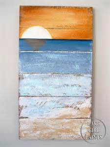 Pallet Art Beach Sunset