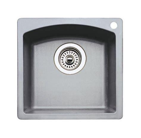 blanco silgranit bar sink blanco 440203 metallic gray single basin silgranit