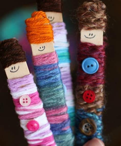 popsicle stick yarn doll allfreekidscraftscom