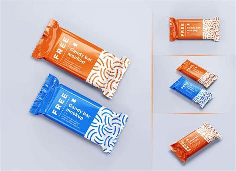 Set blank foil food snack packages. Free Candy / Chocolate Bar Packaging Mockup PSD Set - Good ...
