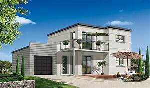 construire maison contemporaine aux normes bbc With idee de maison a construire