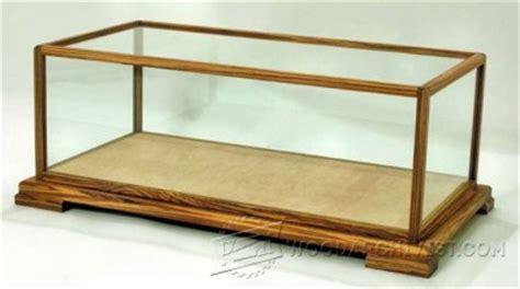 glass display case plans woodarchivist