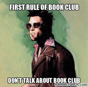 Book Club Meme - fight club meme