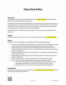 Clean Desk Policy Template Clean Desk Policy Template Free Download