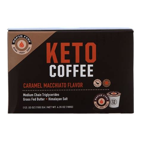 Unlike regular coffee with creamers and sugar, which can give you immediate energy thanks to the caffeine and sugar, but ultimately leads to sugar crashes, and overtime, even. Rapid Fire Carmel Macchiato Keto Coffee Pods, 12 ct - Walmart.com - Walmart.com