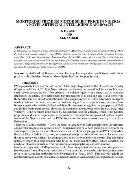 (PDF) Monitoring Premiummotor Spirit Price In Nigeria: A