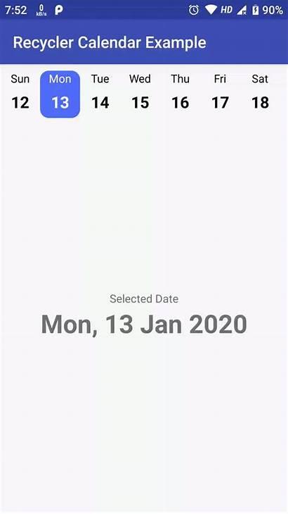 Calendar Library Android Kotlin Generator Written Week