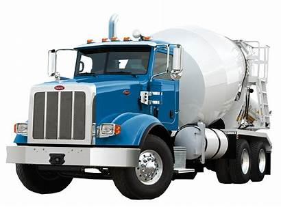 Mixer Concrete Truck Peterbilt Cement Transparent Wheeler