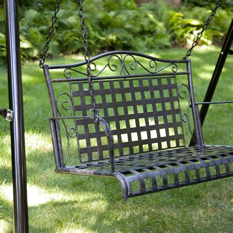 wrought iron porch swing black metal porch swing stand 1667