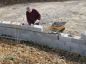 Faire Un Mur De Cloture : construire un mur de cl ture en parpaings en 8 tapes ~ Premium-room.com Idées de Décoration