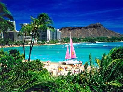 Beach Scene Desktop Backgrounds Wallpapers Background Hawaii