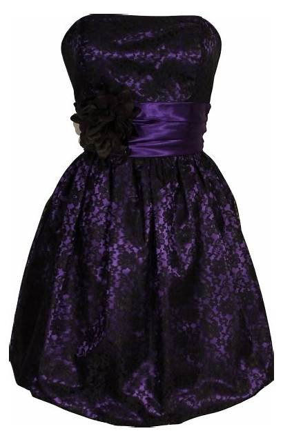 Lace Purple Strapless Overlay Prom Dresses Satin