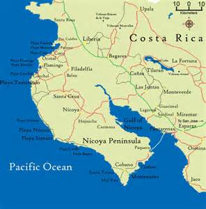 Image result for nicoya costa rica map